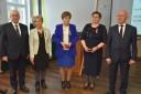 Odznaczeni medalem złotym za długoletnią służbę Błażejczyk Elżbieta Głuszko Krystyna Halicka Teresa oraz Wicewojewoda Sławomir Sadowski i Marszałek Gustaw Marek Brzezin